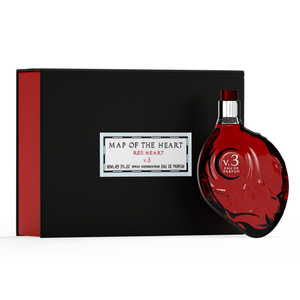 Map of the Heart Red heart perfume V.3 and gift box