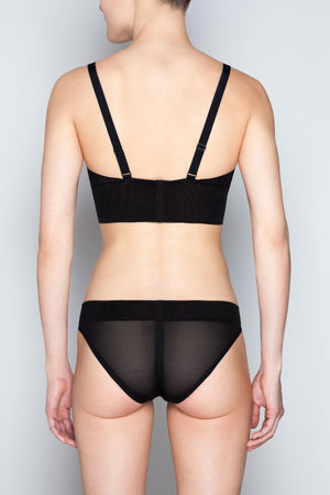 Opaak Sagan brief and Audrey bustier soft bra - back