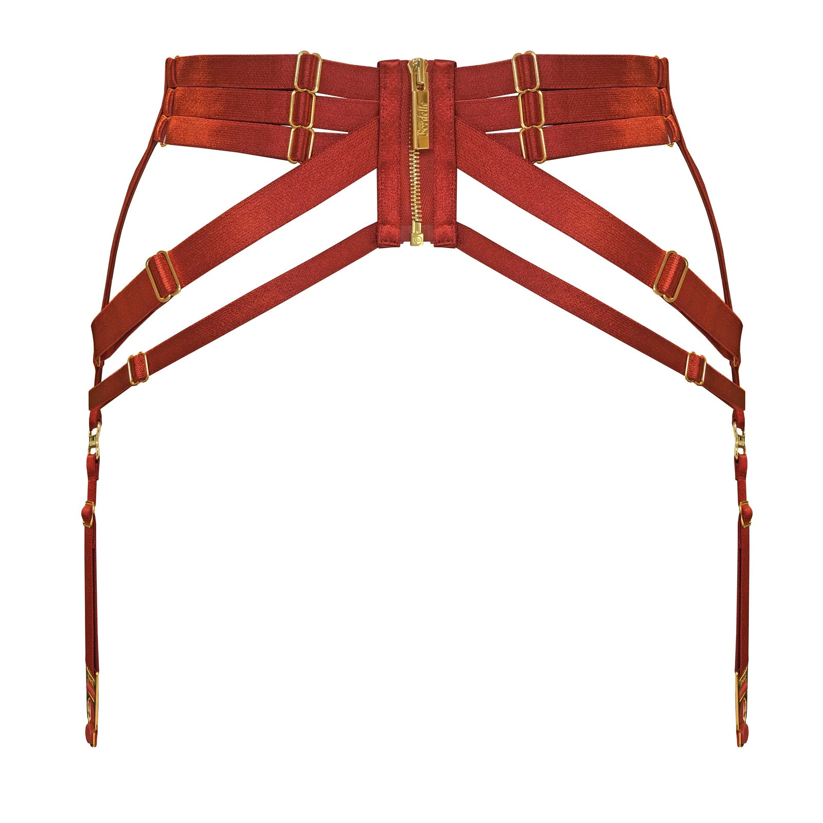 Bordelle panel suspender - burnt red