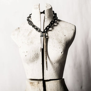 Parts of 4 Giant spike charm and Chain choker