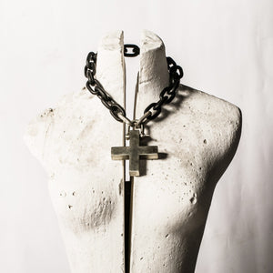 Parts of 4 Charm chain choker with 'Plus' charm removable pendant unisex - lookbook