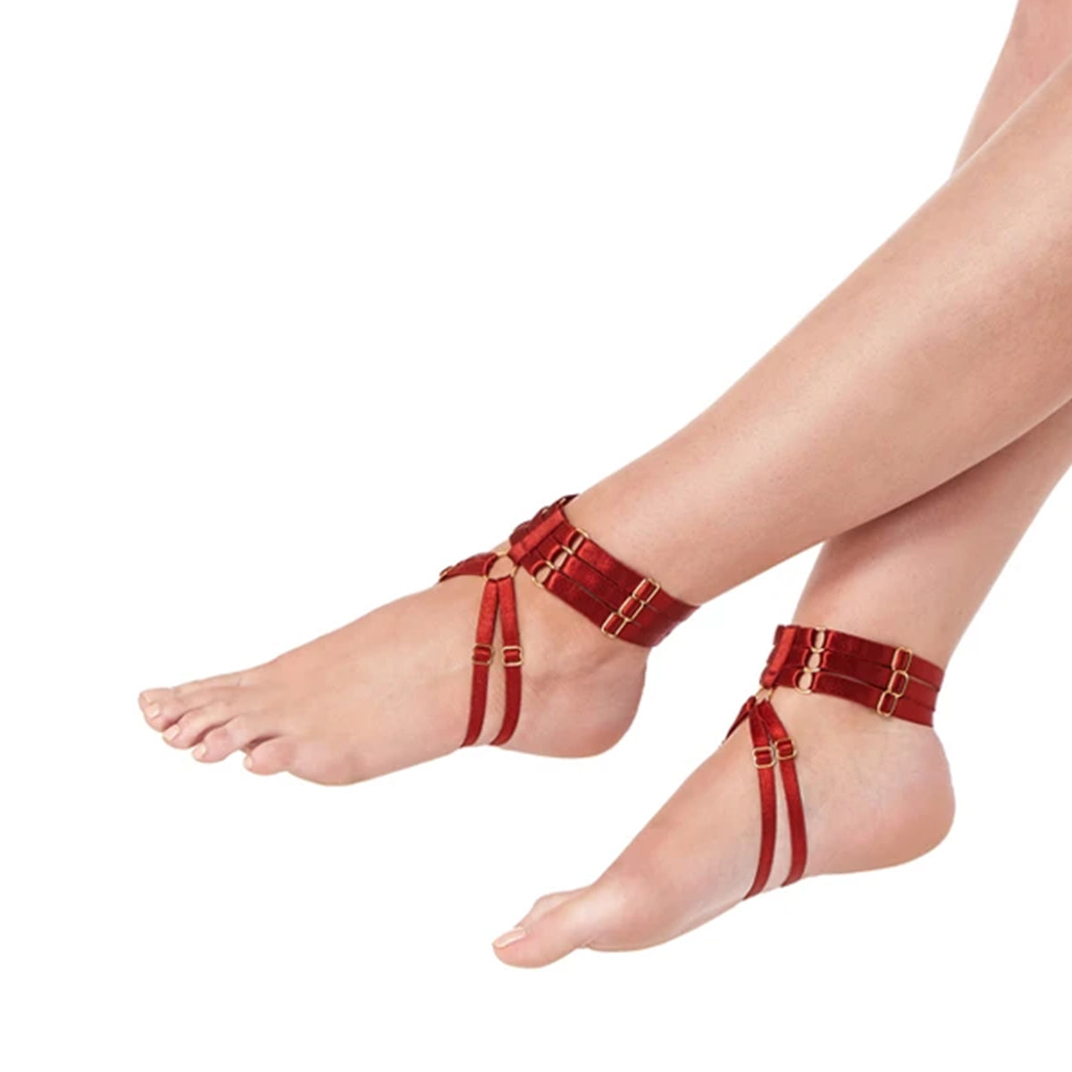 Bordelle Renee anklets burnt red