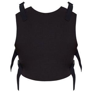 Ruban Noir Tu me manques top - black back