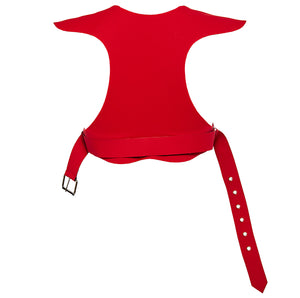 Ruban Noir Tu me rend fou bra in red - back