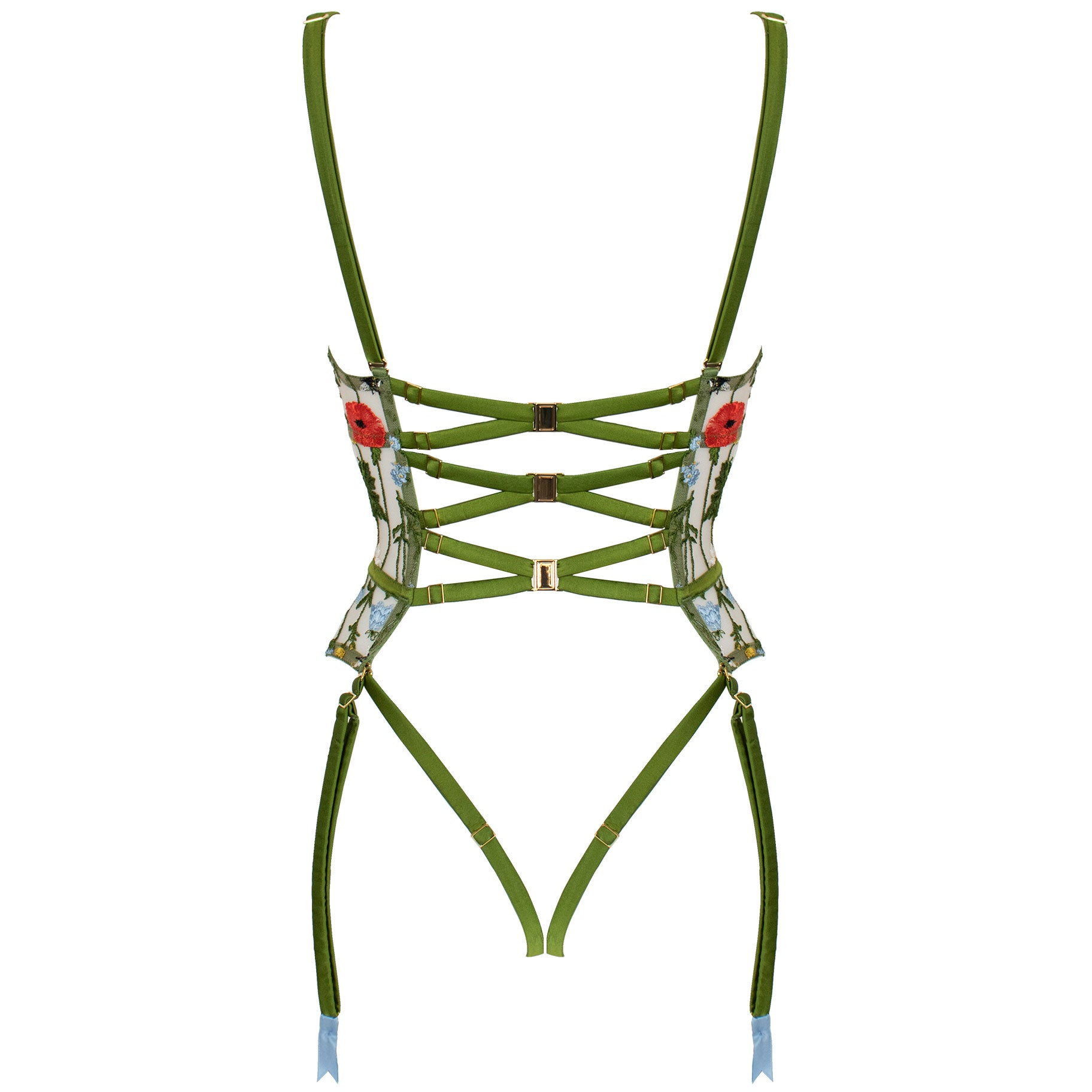 Cerelia harness quarter cup basque by Studio Pia