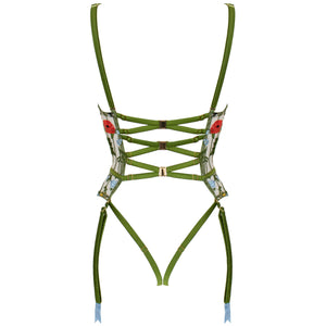 Cerelia harness quarter cup basque by Studio Pia back