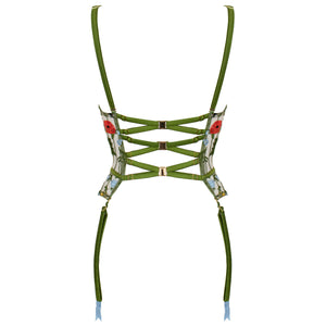 Cerelia harness quarter cup basque by Studio Pia suspender straps