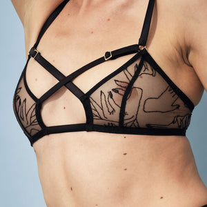 Studio Pia Mira soft cup bralette - close up
