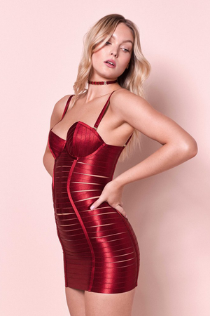 Bordelle Adjustable Angela dress in burnt red