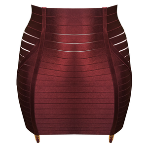 Bordelle adjustable waspie - morello red burgundy