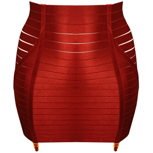 bordelle adjustable waspie - burnt red