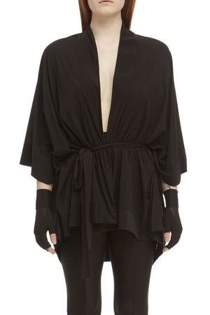 DSTM Sever kimono robe and Sever leggings in black