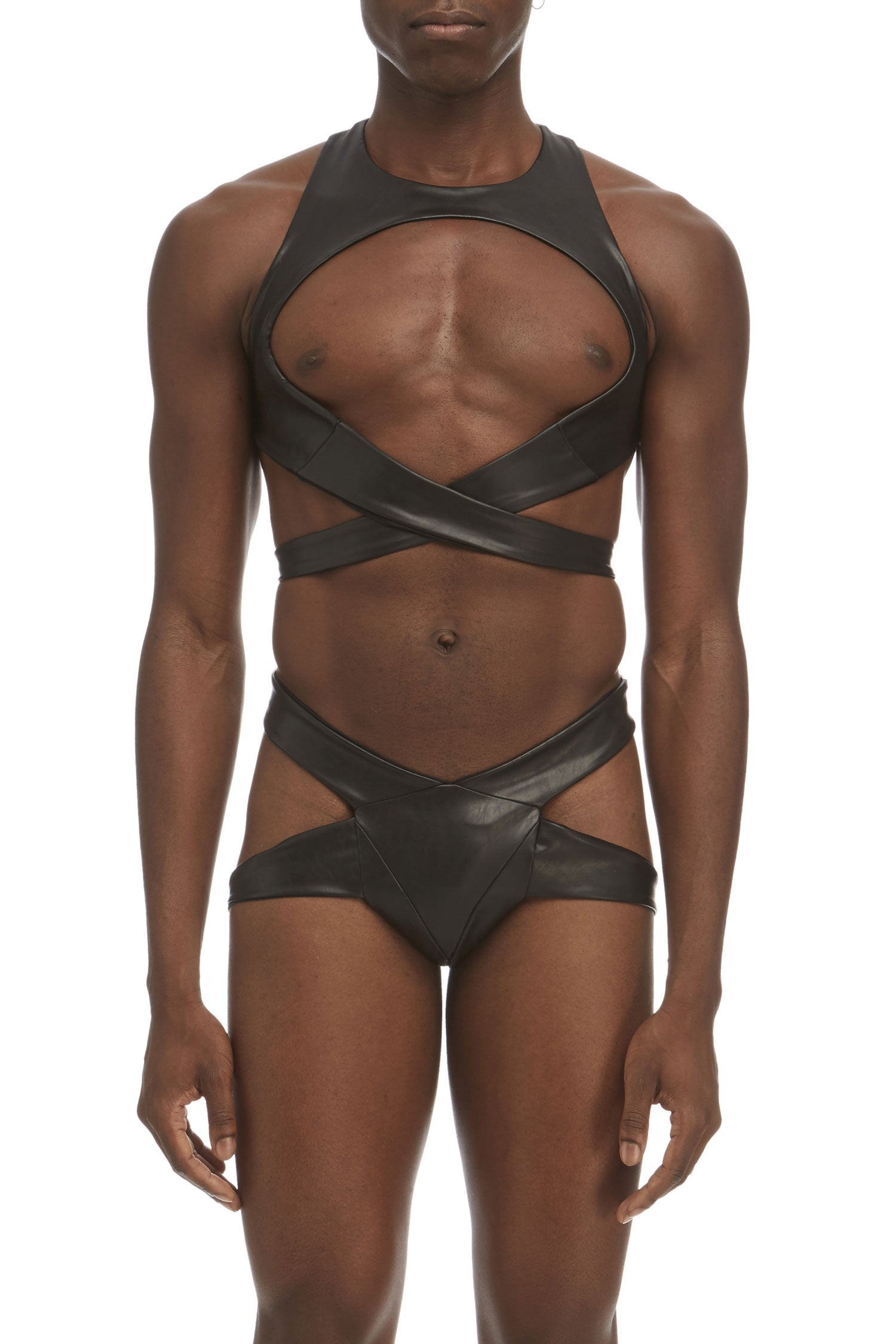 DSTM Maya mens thong in vegan leather