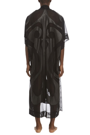 DSTM Phoenix mens leather and mesh robe- back