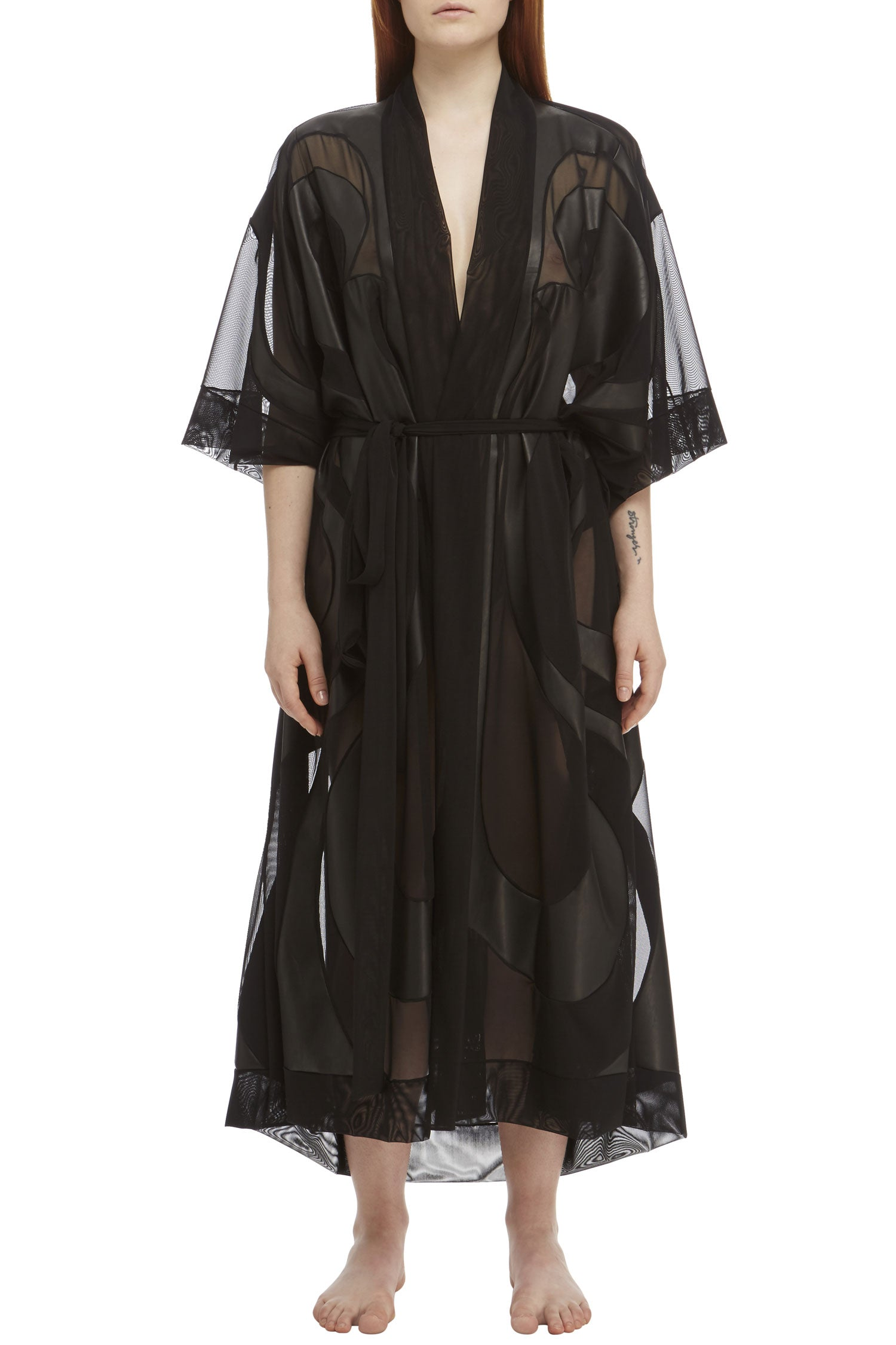 DSTM Phoenix leather and mesh robe