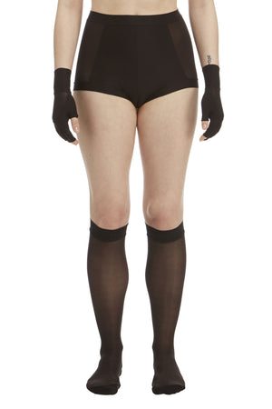 DSTM Shaped knee socks, Sever brief and Sever fingerless gloves