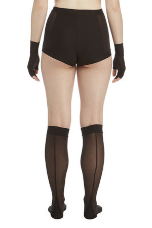 DSTM Shaped knee socks, Sever brief and Sever fingerless gloves - back