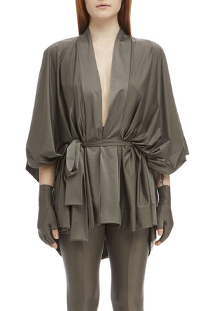 DSTM Sever kimono robe and Sever leggings in silver
