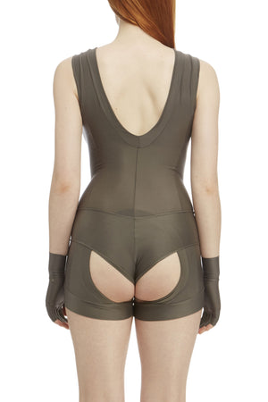 DSTM Sever reversible suspender tank in silver high front - back