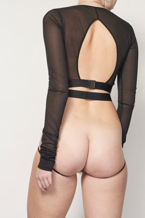 la fille d'O Not Too Soon harness brief - back