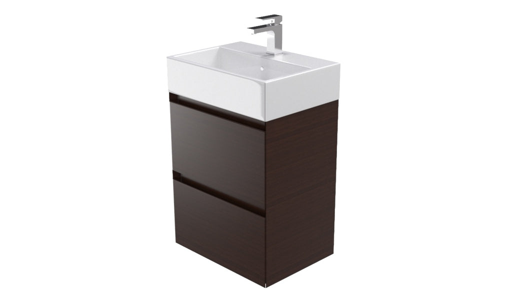 PODIUM 2 drawer wenge unit – Handle less (Including Basin)