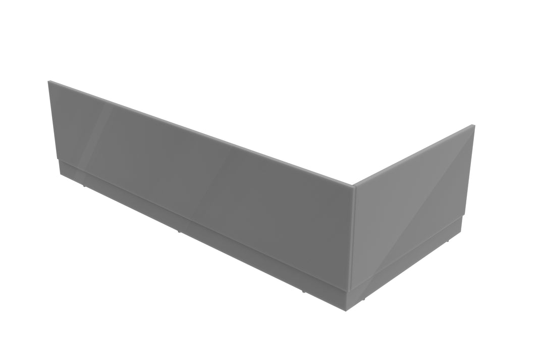 End Panel & Plinth 75 x 41.5 cm - Grey Gloss