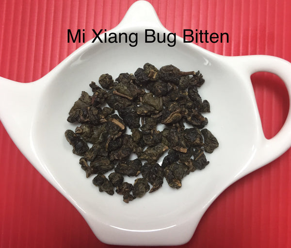 Winter 2017 Mi Xiang Bug Bitten Taiwanese Organic Oolong Tea loose leaves