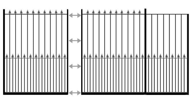 example of Darlington sliding entrance gate