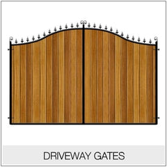Driveway Gates Metal Framed Timber Infill
