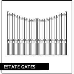metal estate gate