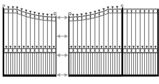 example of hertfordshire sliding metal gate