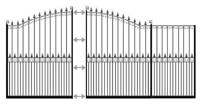 example of london slidig driveway gate