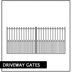 Metal Driveway Gates, Entrance Gate. Manufactured in the UK to any width.