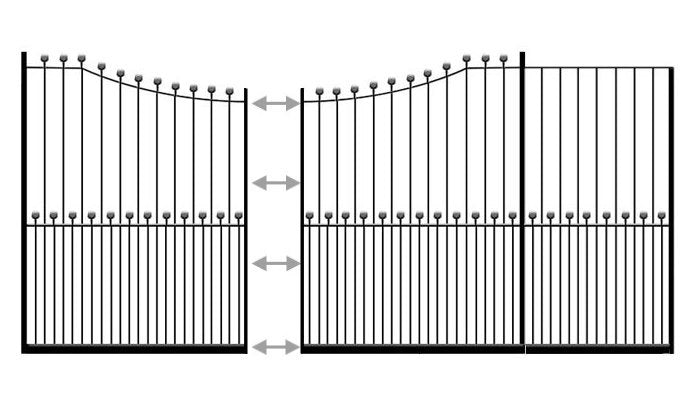 example of peacehaven sliding wrought iron gate