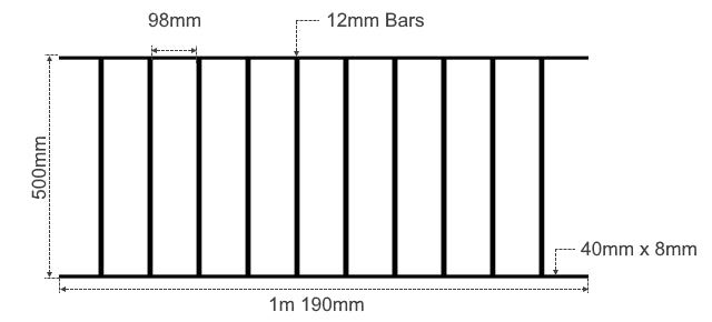 Plain Metal Fence Railings - The Barnstaple