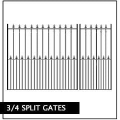 metal split gate