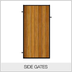 Side Gates - Metal Framed Timber Infill
