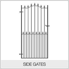 Side Gates - Metal, Wrought Iron