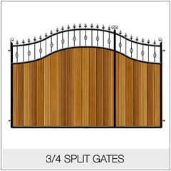 Split Gates - Metal Framed Timber Infill