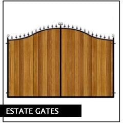 Metal Framed Estate Gates
