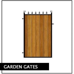 Garden Gates. Deep framed metal with wooden cladding. Handcrafted to any width or height in the UK.