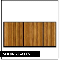 Sliding Gates - Metal Framed, Timber Infill