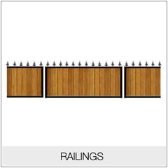 Railing - Metal Framed Timber Infill