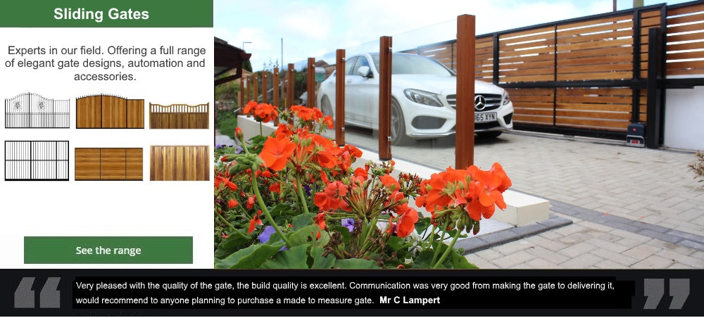 Sliding Gates - Produced by hand to any width.