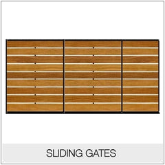 Sliding Gates - Metal Framed Timber Infill