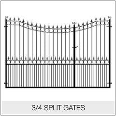 Split Gates - Metal/ Wrought Iron