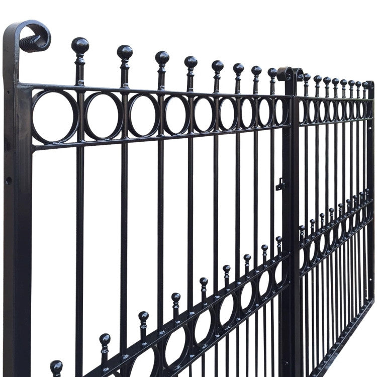 Arundel wrought iron estate gate evador