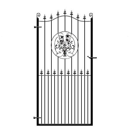 Buckinghamshire wrought iron side gate
