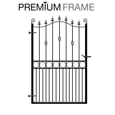 Farnham Garden Gate. Constructed using our premium frame system. Handcrafted in the UK to any width or height
