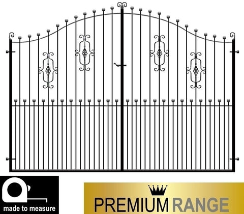 Gloucester Metal Estate Gates - Premium Range, feature balls.